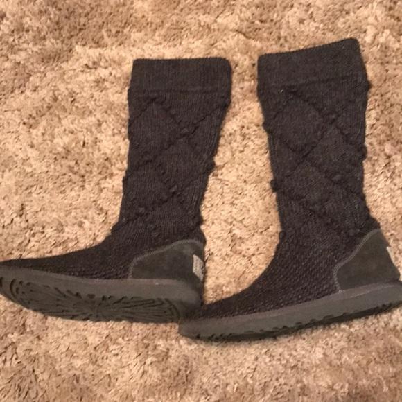 Ugg Shoes Grey Sweater Boots Poshmark